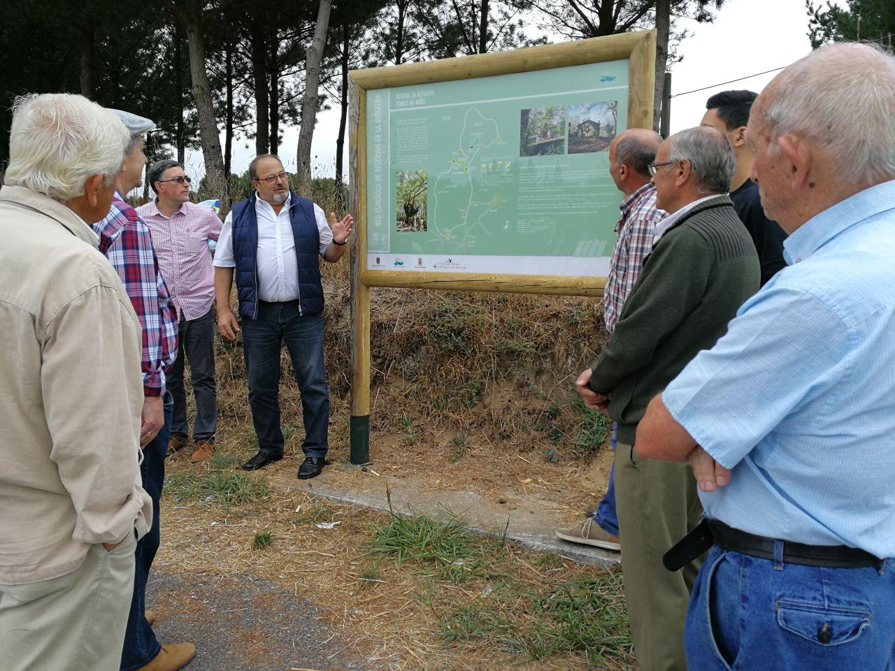 Paneis informativos das Reservas da Biosfera en Castroverde