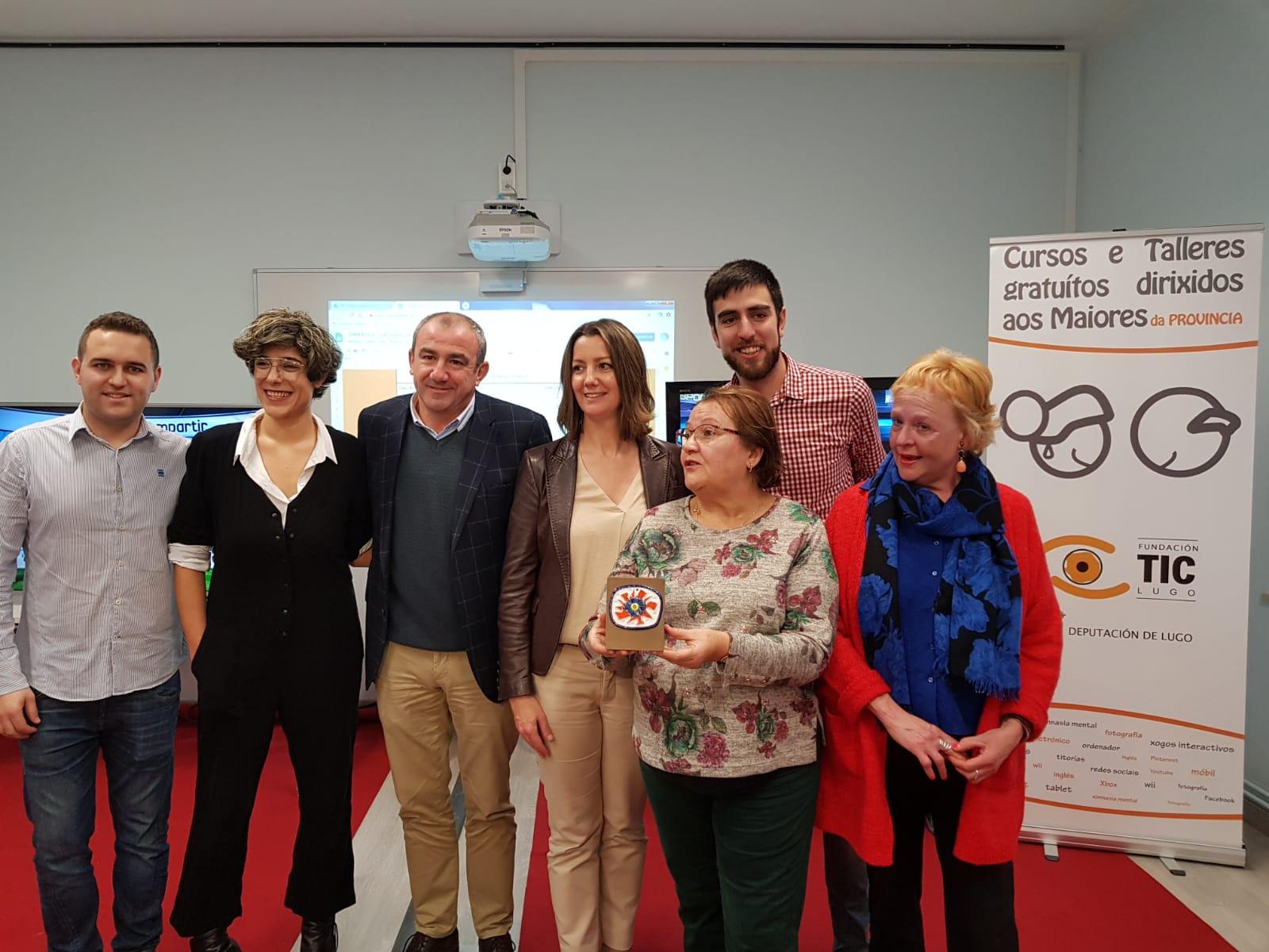 Campos Conde comprométese cos maiores da provincia a seguir cos cursos de novas tecnoloxías no Servizo de Audiovisuais