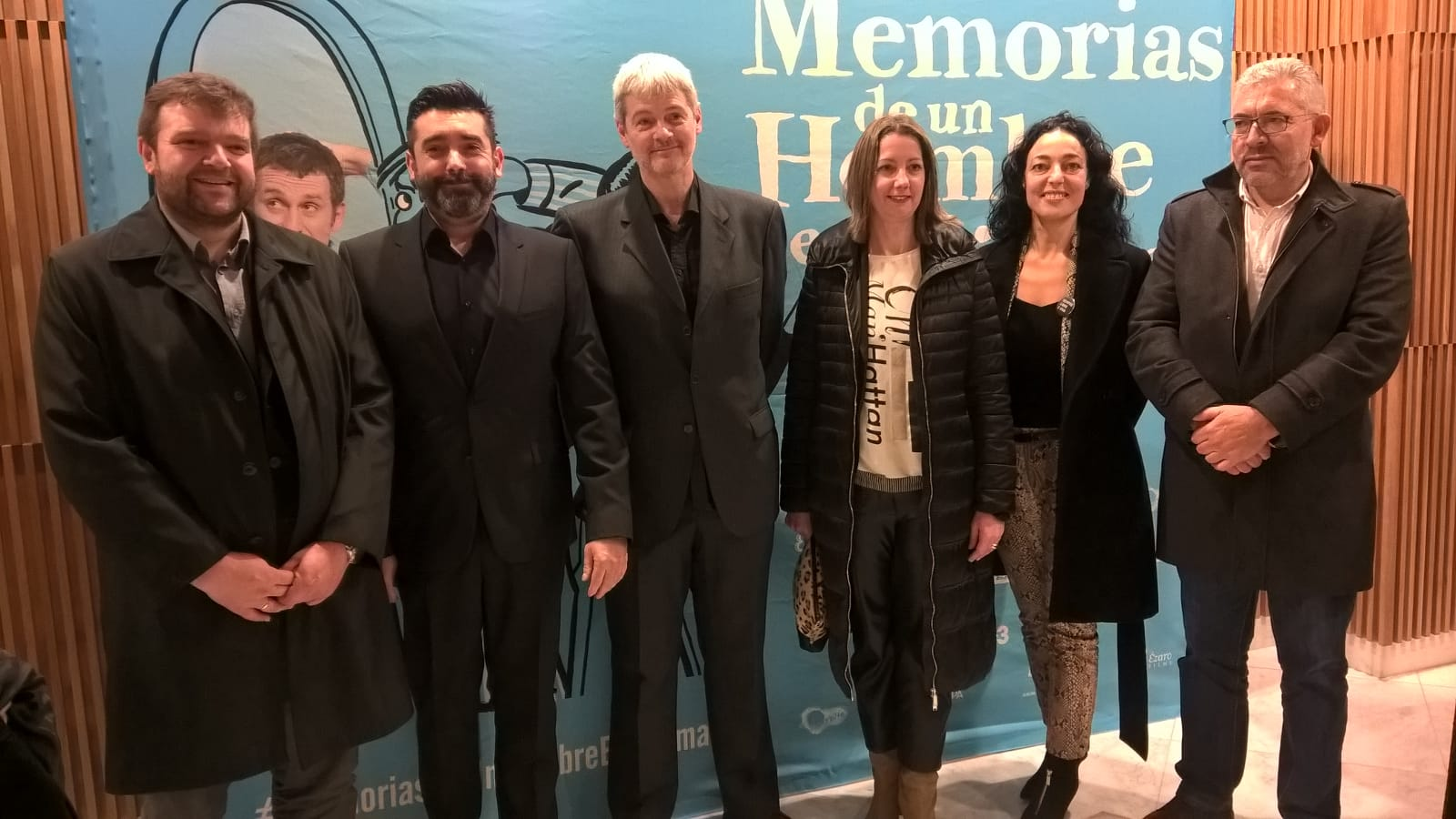 Santos Ramos e Méndez López asisten á proxección da longametraxe Memorias de un hombre en pijama