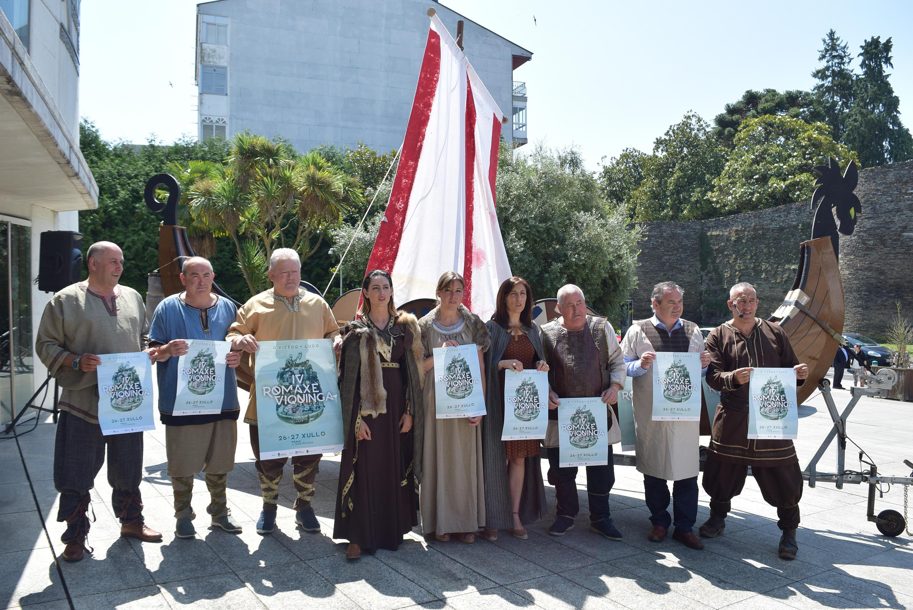 García Porto participou na presentación da IV Romaxe Viquinga do Vicedo, coa que colabora a Deputación