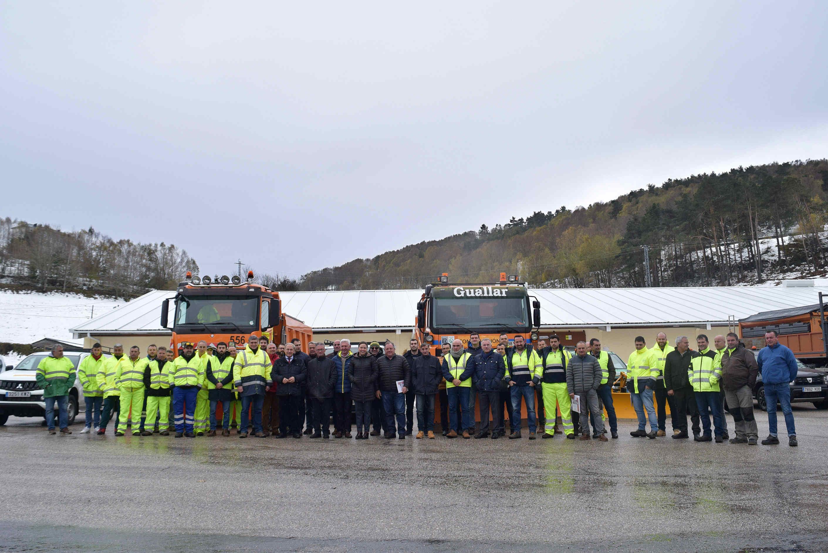 Un dispositivo de 112 operarios e 64 máquinas garantirá este inverno a seguridade na rede viaria da Deputación de Lugo