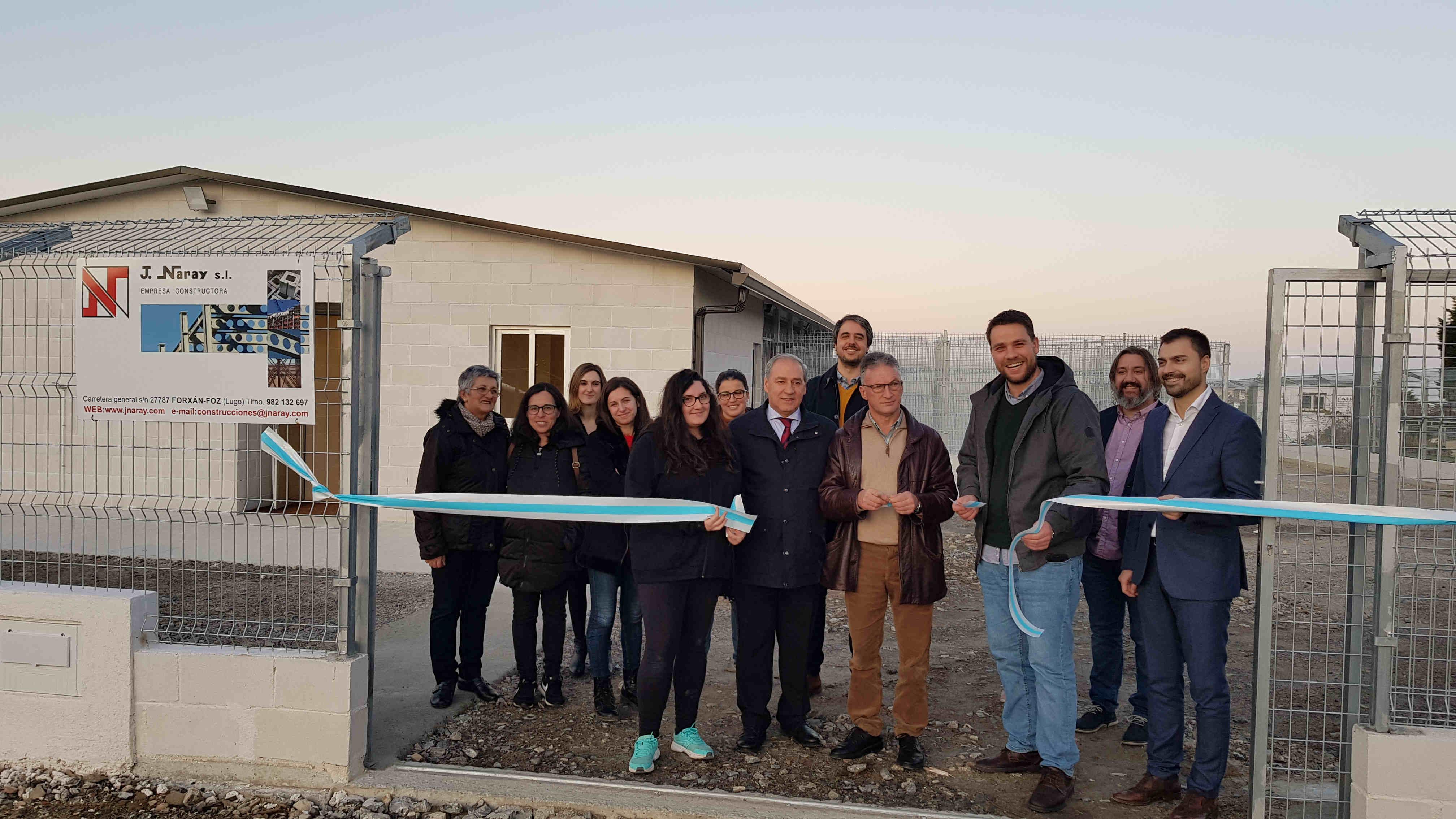 Foz conta cun novo refuxio de animais grazas ao investimento de 90.000€ da Deputación de Lugo